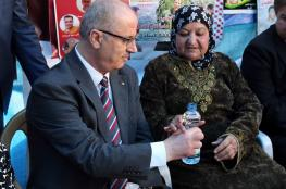 الحمد الله يشارك في خيمة الاعتصام التضامني مع الاسرى في رام الله