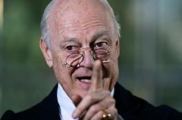 دي ميستورا يطالب النظام السوري  بورقة الانتقال السياسي