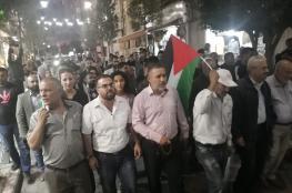 مسيرة في رام الله دعما لغزة ورفضاً للعدوان المستمر عليها