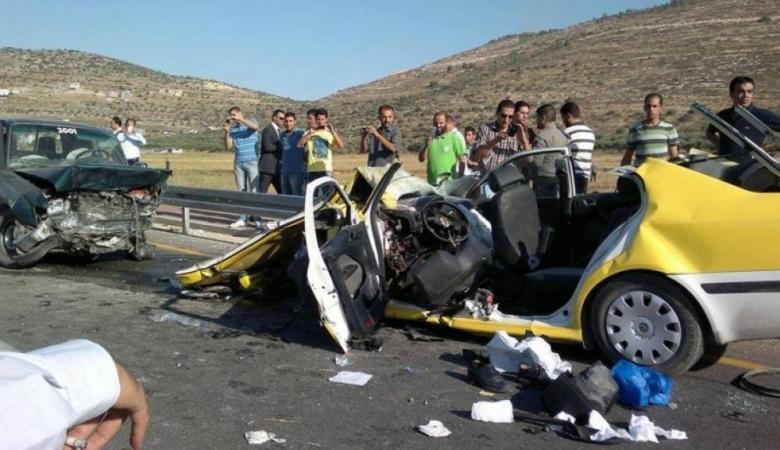 مصرع مواطن واصابة 282 آخرين في حوادث سير بالضفة الغربية