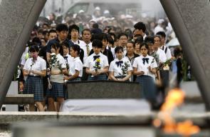 اليابانيون يُحيون الذكرى السنوية الـ74 لإلقاء أول قنبلة ذرية في العالم على مدينة هيروشيما