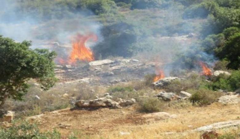 الاحتلال يتسبب باحتراق 14 دونم من اراضي رام الله