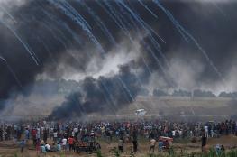 اصابة اكثر من 430 مواطنا خلال مواجهات مع الاحتلال بغزة