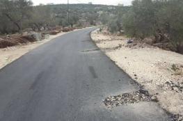 قوات الاحتلال تصور منطقة زرع العبوات الناسفة في شمال طولكرم