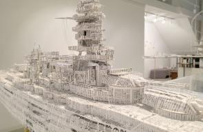 تحويل الصحف القديمة الى قوارب ثلاثية الأبعاد مصنوعة بدقة متناهية