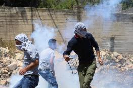 """رام الله : الاحتلال يقمع مسيرة """"نعلين """" الأسبوعية"""