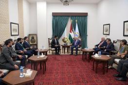 """الرئيس خلال لقاء مع شركة """"كريم """" : سنذلل العقبات لعمل التطبيق في فلسطين"""