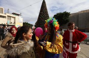 جانب من احتفالات عيد الميلاد في بيت لحم