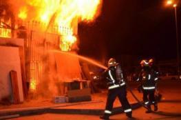 إصابة 3 مواطنات في حريق منزل ببلدة الخضر في بيت لحم
