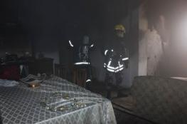 الدفاع المدني يخمد حريق منزل في البيرة