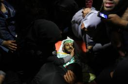 خنساء جديدة في فلسطين ...والدة الشهيد ابو حجلة تودع ابنها الرابع