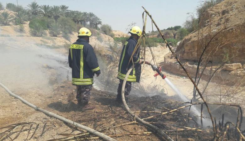 المستوطنون يحرقون مئات الدونمات التابعة للمواطنين جنوب نابلس