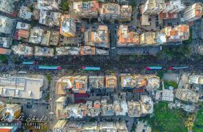 مظاهرة حاشدة بالضاحية الجنوبية في بيروت دعما للقدس