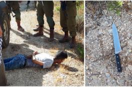 اعتقال فتى فلسطيني بزعم حيازته سكين شرق رام الله