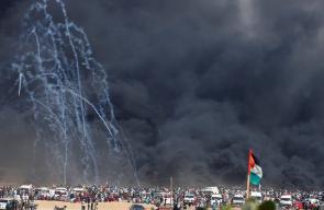اصابات في قمع الاحتلال لمليونية القدس في غزة