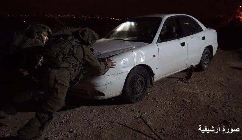 الاحتلال يعتقل مواطنا ويستولي على مركبة غرب رام الله