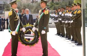 أمين عام الامم المتحدة يصل رام الله ويضع الزهور على قبر الشهيد ياسر عرفات