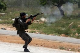 اصابات في اقتحام الاحتلال لسوق شمال شرق رام الله