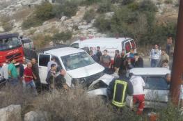 7 اصابات بينها خطرة في حادث تصادم مروع غرب جنين