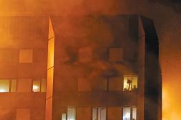 الدفاع المدني ينقذ 3 مواطنين بعد اشتعال النيران بمنزلهم في رام الله