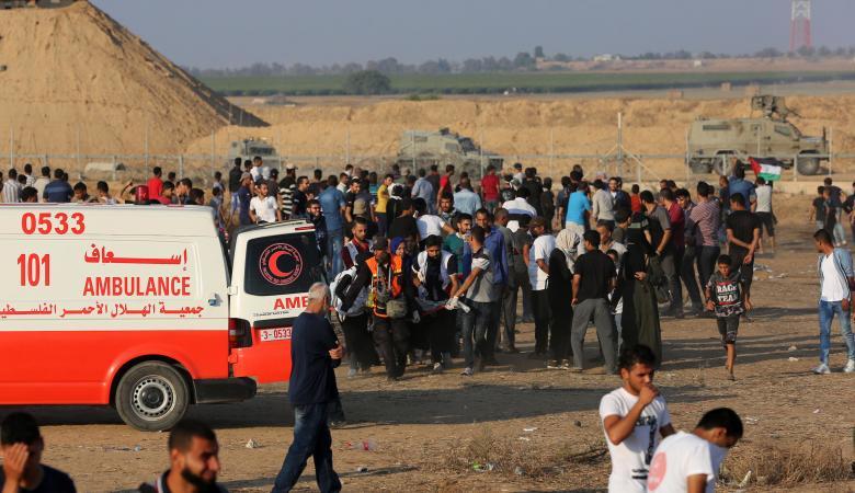 اصابات في قمع الاحتلال لمسيرة العودة شرق قطاع غزة