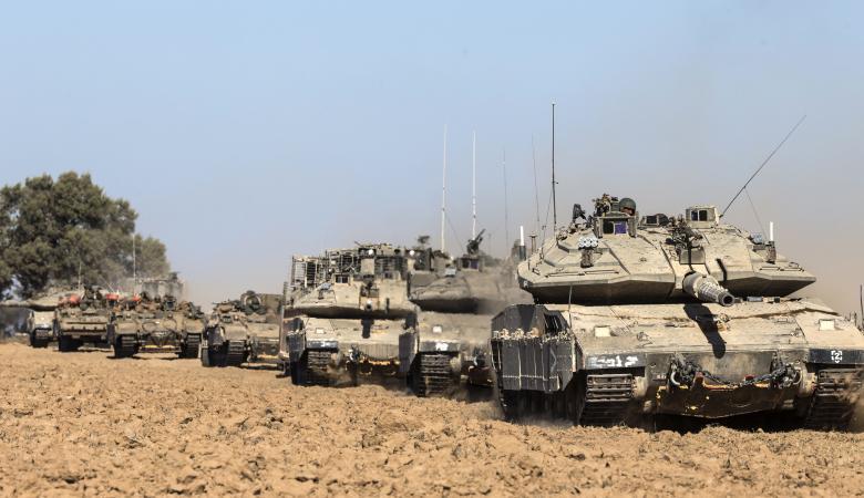 """""""اسرائيل """" تهدد باجتياح بري لغزة"""