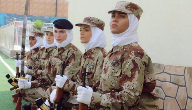 شاهد ..استعراض نسائي عسكري سعودي غير مسبوق