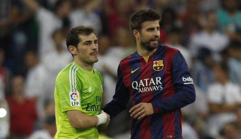 بيكيه يحتفي بسحق برشلونة لريال مدريد والقديس يرد