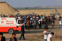 عشرات الاصابات في قمع الاحتلال لمسيرات غزة