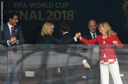 شاهد ..تصرف أمير قطر مع زوجة الرئيس الفرنسي يشعل الصحافة الغربية
