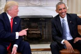 ترامب يهاجم اوباما ويتهمه بالتواطؤ مع روسيا