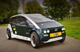 لينا.. سيارة كهربائية من الشمندر والكتان!
