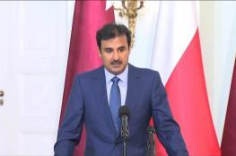 أمير قطر يدعو لتسوية عادلة للقضية الفلسطينية