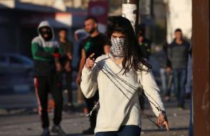 المواجهات التي اندلعت على حاجز حوارة جنوب نابلس اليوم