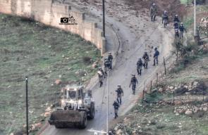 قوات كبيرة من جيش الاحتلال تقتحم بلدة كوبر شمال غرب رام الله