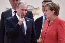 بوتين خلال لقاء مع ميركل : نريد ان نعيد كل اللاجئيين السورييين الى بلادهم