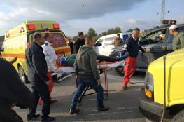 اصابة 8 مواطنين في حادث سير مروع غرب الخليل