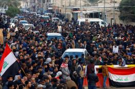 آلاف العراقيين يواصلون التظاهر في ساحة التحرير بالعاصمة بغداد