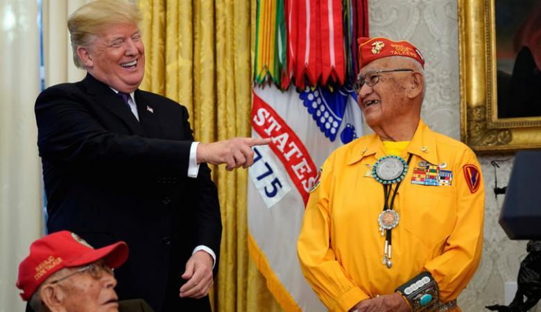 ترامب عن منافسته على رئاسة امريكا : اهلا بابنة الهنود الحمر