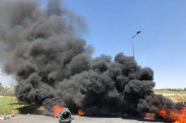 جمعة الكوشوك تنتقل الى الضفة الغربية ..وحرق للاطارات برام الله