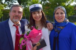 طالبة فلسطينية الاولى على الدنمارك في الثانوية العامة