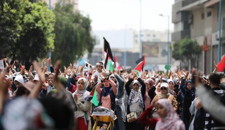 """الأردن: مسيرة حاشدة في عمّان رفضًا لـ""""صفقة القرن"""""""