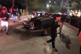 مصرع مواطن في حادث سير مروع بمدينة نابلس