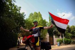 مغربي يعبر بدراجته الهوائية 6 دولة إفريقية للوصول للسعودية لأداء الحج