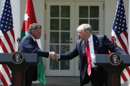 """الملك عبد الله : ترمب """"يفكر بأسلوب جديد"""" لحل القضية الفلسطينية"""