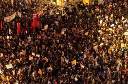 اعتقال اكثر من 10 اسرائيليين خلال تظاهرة ضد نتنياهو