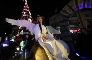 قافلة الميلاد تجوب شوارع رام الله