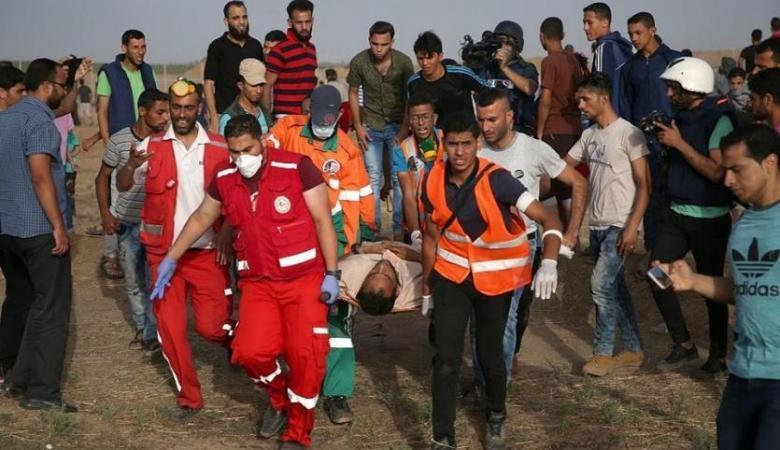 أكثر من 60 اصابة في قمع الاحتلال لمسيرات العودة