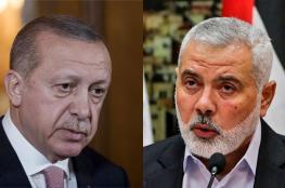 هنية واردوغان يبحثان ملف الانتخابات الفلسطينية