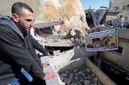 """""""اسرائيل """" تهدد بهدم منزل عائلة ابو حميد بعد اعادة بناءه"""